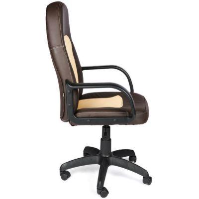Офисное кресло Тетчер PARMA кож/зам, коричневый/бежевый, 36-36/36-34