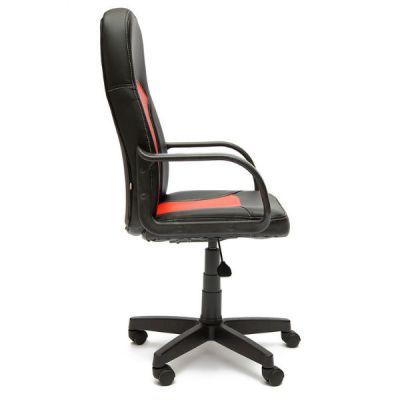 Офисное кресло Тетчер PARMA кож/зам, черный/красный, 36-6/36-161