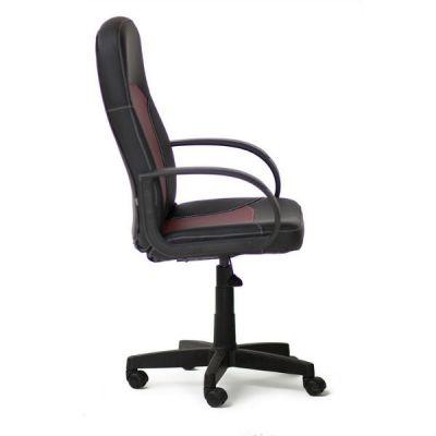 Офисное кресло Тетчер PARMA кож/зам, черный/бордо, 36-6/36-7