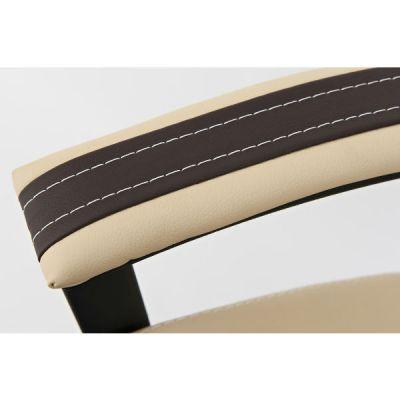 Офисное кресло Тетчер TWISTER кож/зам, коричневый+бежевый, 36-36/36-34/