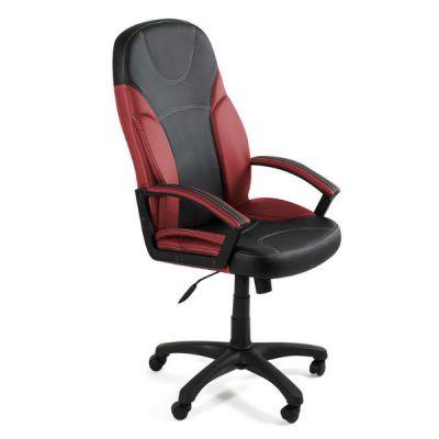Офисное кресло Тетчер TWISTER кож/зам, черный+бордо, 36-6/36-7