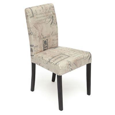 Стул Тетчер с мягким сиденьем и спинкой «Луна» (LINEA). Цвет дерева Венге, ткань Бежевый Париж