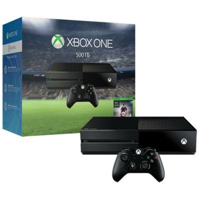 Игровая приставка Microsoft Xbox One с 500 ГБ памяти и игрой FIFA 17 + 3 месяца Xbox LIVE Gold 5C7-00281-1