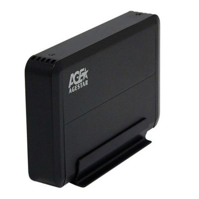 "Адаптер Agestar Внешний корпус для HDD 3UB3O8 SATA пластик/алюминий черный 3.5"""