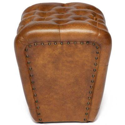 """Пуфик Тетчер 4311 от Secret de Maison в стиле """"Лофт"""". Материал: кожа буйвола. Античный светлый"""