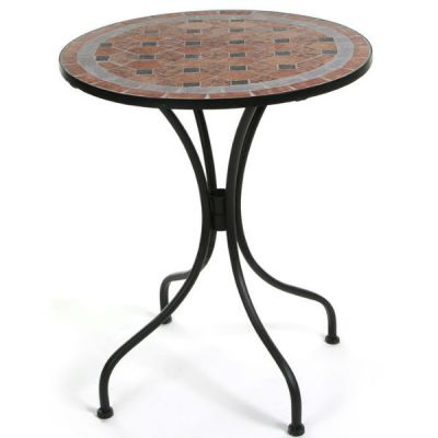 Стол Тетчер Romeo, 590D х710, цвет чёрный с мозаикой