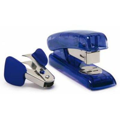 Rapesco настольный R538R4L1 24, 6 26, 6 (20листов) синий металл, пластик 825086