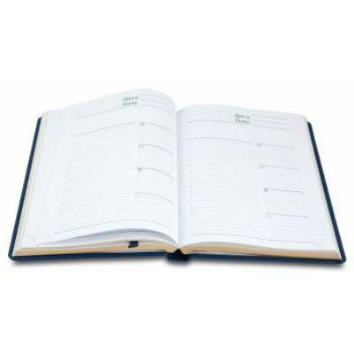 Letts Ежедневник UMBRIA A5 недатир. искусст. кожа белые страницы синий 822963