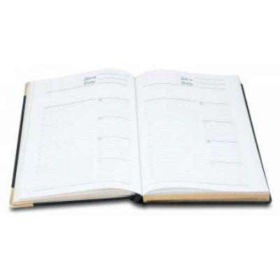 Letts Ежедневник LEXICON A5 недатир. искусст. кожа белые страницы позолоч. срез метал. уголки черный 822949