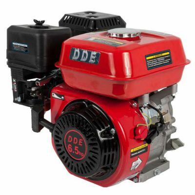 Двигатель DDE бензиновый четырехтактный 168FB-Q19 (19.05 мм, 6.5 л.с., 196 куб.см., фильтр-картридж, датчик уровня масла)