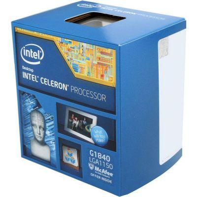 ��������� Intel Celeron G1840 BOX 2.8 GHz / 2core / SVGA HD Graphics / 0.5+2Mb / 53W / 5GT / s LGA1150 BX80646G1840 S R1VK IN