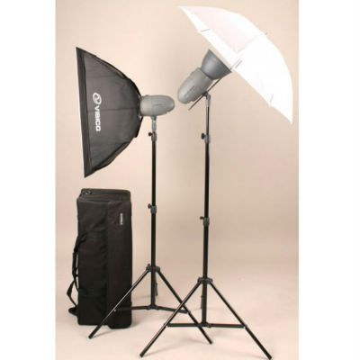 Комплект Visico импульсного света VL PLUS 200 Soft Box/ Umbrella KIT