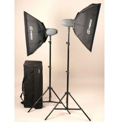 Visico Комплект импульсного света VL PLUS 200 Soft Box KIT