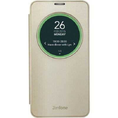 Чехол ASUS (флип-кейс) для ZenFone Laser ZE600/601KL View Flip Cover золотистый 90AC00W0-BCV002