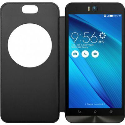 Чехол ASUS флип-кейс для Asus ZenFone Selfie ZD551KL MyView Cover Delux черный 90AC00X0-BCV001