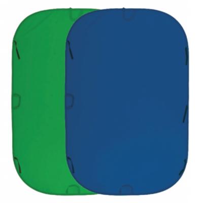 Fujimi Фон складной хромакей 150x200 синий/зеленый