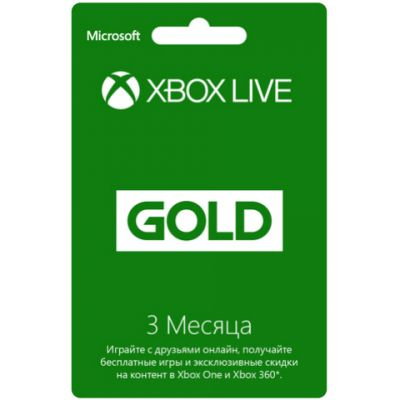 Microsoft Карта оплаты подписки для сети Xbox LIVE, 3 месяца 52K-00271
