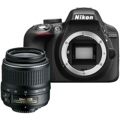 "Зеркальный фотоаппарат Nikon Nikon D3300 Black KIT <18-55mm AF-P nonVR 24,7Mp, 3"" LCD>"