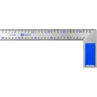 Угольник КОБАЛЬТ столярный 300 мм, нерж.сталь, чугунное основание 243-424