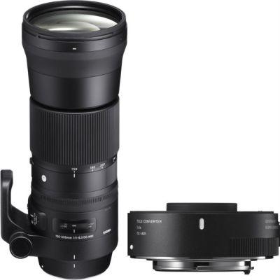 Объектив для фотоаппарата Sigma AF 150-600mm f/5.0-6.3 DG OS HSM Contemporary Nikon F + Телеконвертер Sigma TC-1401