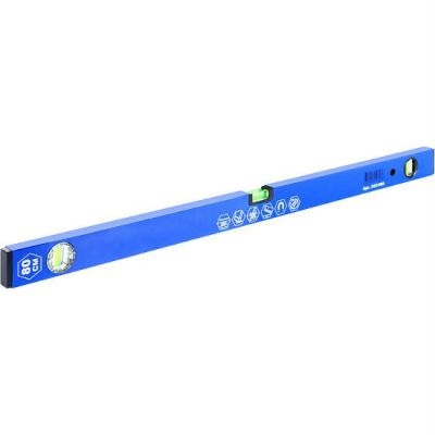Уровень КОБАЛЬТ строительный Комфорт, 800 мм, профиль 20 x 49 мм, 2 глазка и 1 поворотн., точность 1,0 мм/м, магнитный 243-066