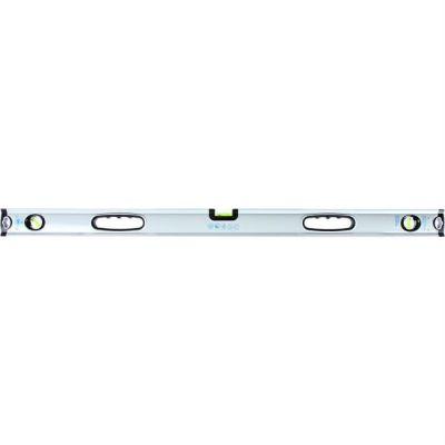 Уровень КОБАЛЬТ строительный Экстра, 1000 мм, профиль 30 x 65 мм, 3 глазка, 2 ручки, V-паз, точность 0,5 мм/м 243-295