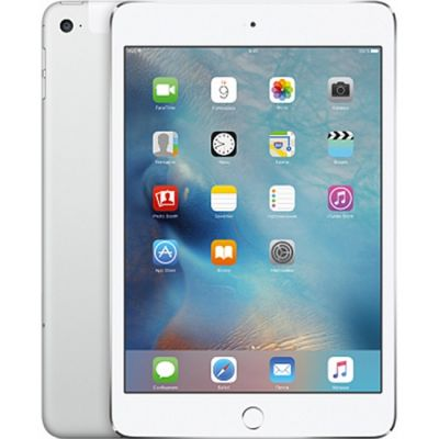 ������� Apple iPad mini 4 Wi-Fi + Cellular 32GB (Silver) MNWF2RU/A