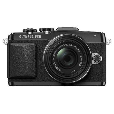 Компактный фотоаппарат Olympus E-PL7 black + EZ-M1442 II R black Kit - incl. Charger + Battery