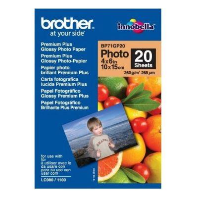 Бумага Brother глянцевая 10х15 260 гр. 20 листов BP71GP20