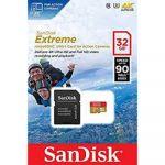 Карта памяти SanDisk microSD 32GB Class 10 UHS-I U3 (SD адаптер) 90MB/s SDSQXVF-032G-GN6AA