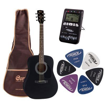 Акустическая гитара Cort AD 810-BKS + гитарный комплект