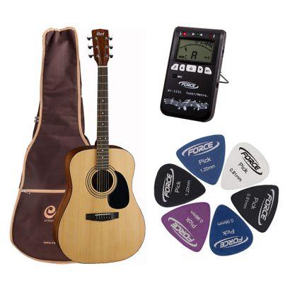 Акустическая гитара Cort AD810 NS + гитарный комплект