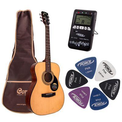 Акустическая гитара Cort AF510 NAT + гитарный комплект