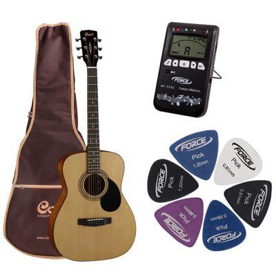Акустическая гитара Cort AF510 NS + гитарный комплект