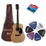 Электроакустическая гитара Cort AD810E NS + гитарный комплект