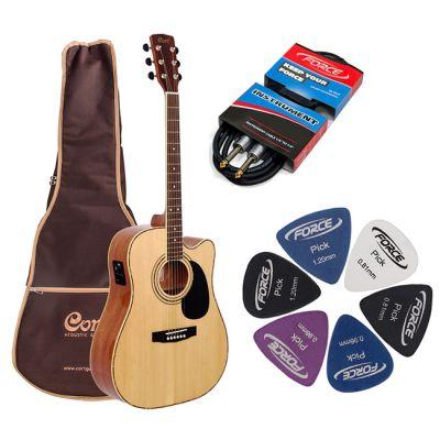Электроакустическая гитара Cort AD880CE NS + гитарный комплект