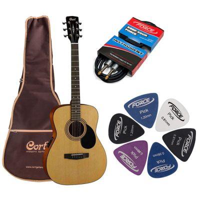 Электроакустическая гитара Cort AF510E NS + гитарный комплект
