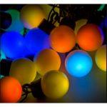 """Гирлянда """"Мультишарики"""" темно-зеленый ПВХ, диаметр шариков 23мм, цвет RGB красный/зеленый/синий 303-559"""