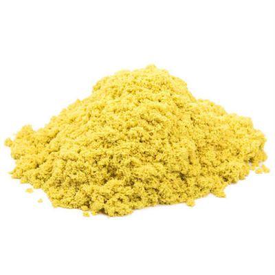Космический песок пластичный, полный комплект (упак: 1 кг,желтый)