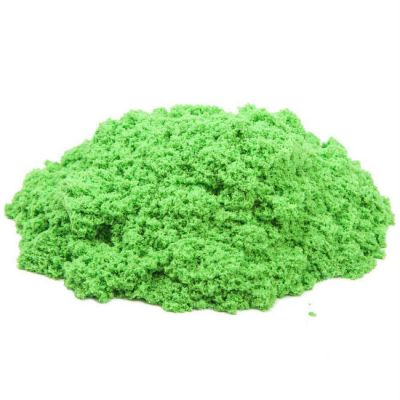 Космический песок пластичный, полный комплект (упак: 1 кг, зеленый)