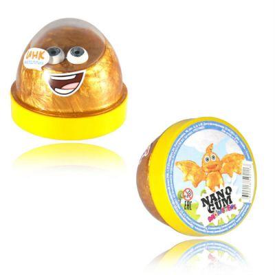 """Волшебный мир Жвачка для рук Nano gum """"Инк"""" золотой металлик"""