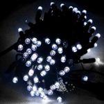 Электрогирлянда LED 140 белых диодов, с контроллером. Для наружного применения IP54 140WEV