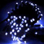 Электрогирлянда LED 100 синих диодов, с контроллером, 8 режимов 100BE