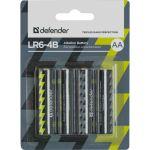 Батарейки Defender Alkaline AA 1.5V LR6-4B (4шт) 56012