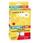 Мяч Start Line для настольного тенниса STANDART 2, 6 мячей 23-022