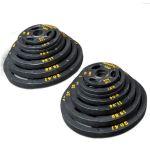 Powertec Набор олимпийских дисков 51 мм для тренажеров 255 LBS (115,68 кг) OP-255-B
