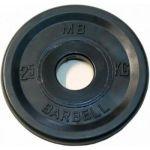 Диск MB Barbell евро-классик 2,5 кг, 51 мм MB-PltBE-2,5