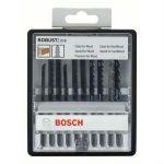 Набор Bosch пилок для лобзика Robust line, по дереву (10 шт.) кассета 2607010540