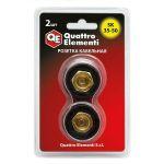 Quattro Elementi Кабельный разъем розетка кабельная сварочного аппарата SК 35-50 ( до 315 А/45В) 2 шт в блистере 641-978