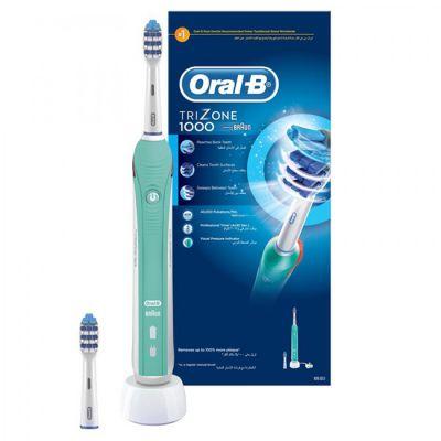 Электрическая зубная щетка Oral-B Trizone 1000 белый/голубой